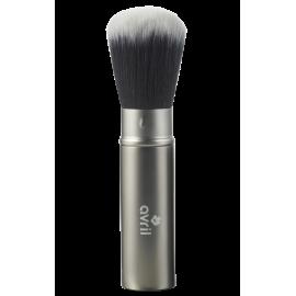 Retractable powder & blush brush