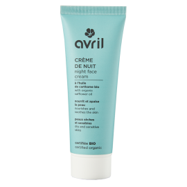 Face cream for night Dry & sensitive skins  50 ml - Certified organic